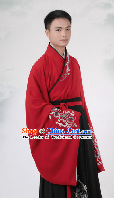Chinese Style Dresses Kimono Dress Han Dynasty Male Outfits Complete Set for Men