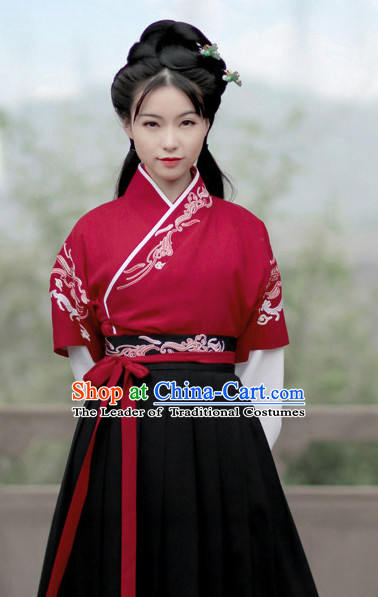 Chinese Ancient Knight Clothing Complete Set for Women and Girls