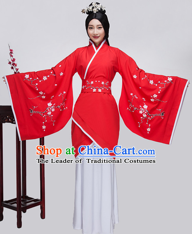 Ancient Chinese Classical Kimono Plum Blossom Clothing Complete Set for Women