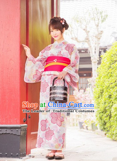 Japanese Traditional Kimono Suits Complete Set for Women Girls Adults