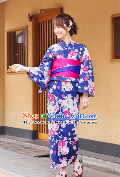 Japanese Traditional Kimono Garments Complete Set for Women Girls Adults