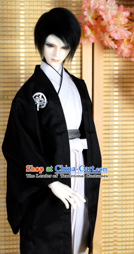 Japanese Traditional Male Kimono Clothing Complete Set for Men Boys Adults