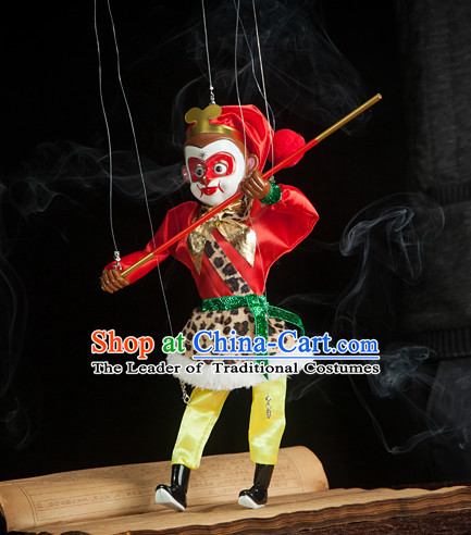 Top Sun Wukong Monkey King Hands Traditional String Puppet