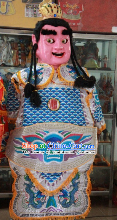 Top Handmade Adult Human Size Taiwan Dianyin Prince Puppet Props Costumes Decorations Display Parade