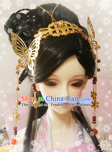 Ancient Chinese Style Black Hair Wigs and Accessories for Women Girls Adults Kids
