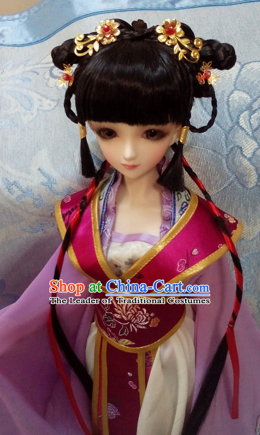 Ancient Chinese Black Long Wigs for Women