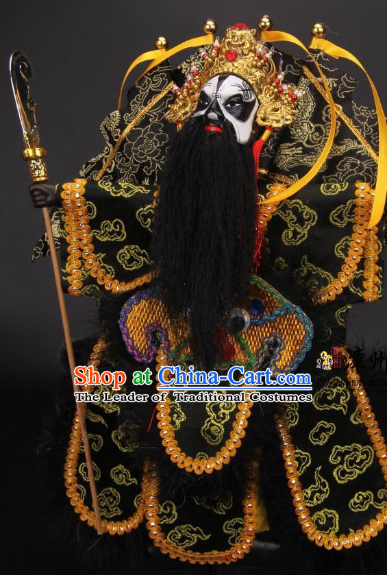 Traditional Chinese Ancient Handmade Gwan Gong Guan Yu General Hand Marionette Puppet Hand Puppets