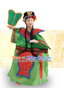 Traditional Chinese Handmade Iron Fan Princess Glove Puppet Hand Puppets