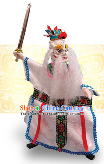 Traditional Chinese Handmade Dragon King of West Ocean Hand Puppets Hand Marionette Puppet