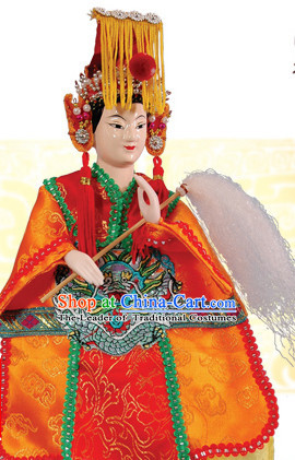Traditional Chinese Handmade Goddess Matsu of the Sea Hand Puppets Hand Marionette Puppet