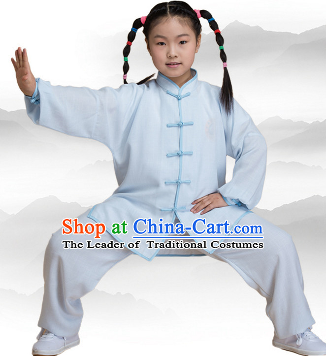 b611f2446 Chinese Asian Mandarin Kung Fu Martial Arts Practice and Competition Costume  Wing Chun Apparel Taiji Tai