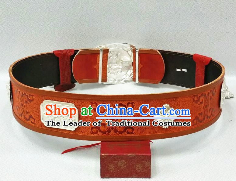 Traditional Chinese Mongolian Feather Belt