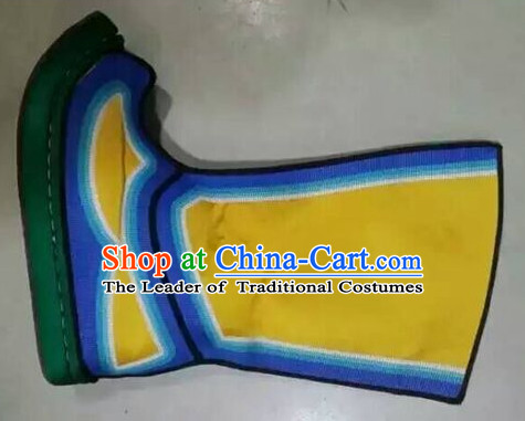 Traditional Chinese Ancient Handmade Boots for Men Boys Adults Children