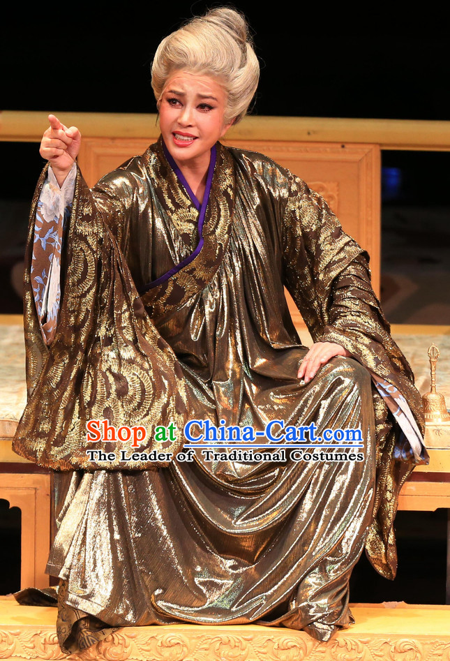 Ancient Chinese Female Emperor Wu Zetian Empress Stage Costumes