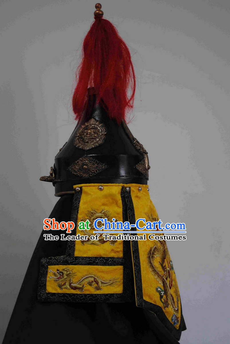 Ancient Chinese Emperor Fighter Helmet Hat for Men