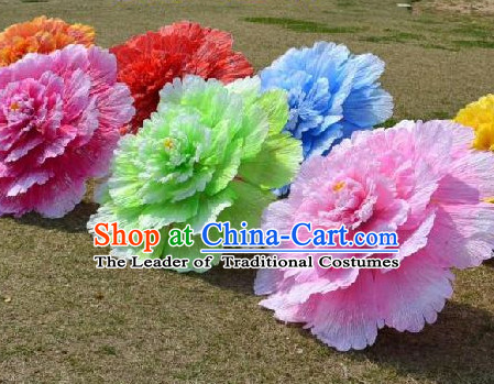 0.6 Meter Large Chinese Peony Flower Dance Props for Adults or Kids