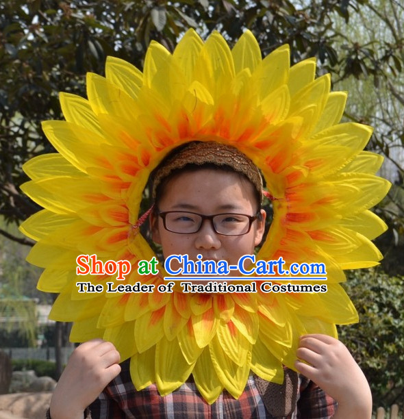 Chinese Sunflower Face Props for Adults or Kids