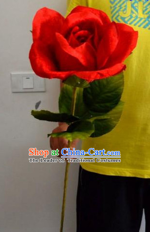 Red Rose Flower Dance Props Props for Dance Dancing Props for Sale for Kids Dance Stage Props Dance Cane Props Umbrella Children Adults