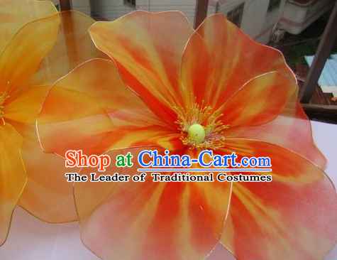 Traditional Chinese Handmade Flower Dance Props and Decorations