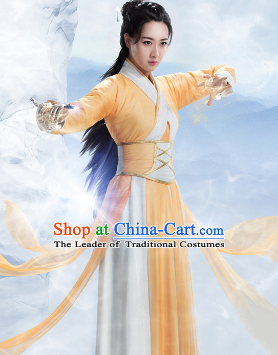 Chinese Ancient Swordswoman Knight Costume Complete Set for Women Youth Teenagers Kids