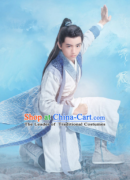 Chinese Ancient Hanfu Garment Complete Set for Women Youth Teenagers Kids