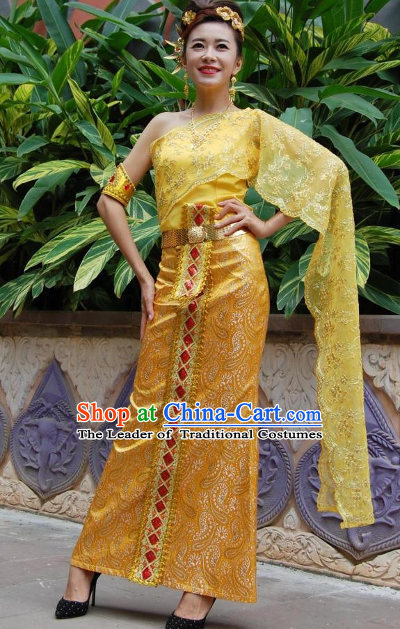78b091b5ac8 Traditional National Thai Dress Thai Traditional Dress Dresses Wedding Dress  online for Sale Thai Clothing Thailand Clothes Complete Set for Women Girls  ...