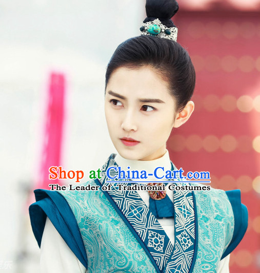 Ancient Chinese Swordsman Black Wig Wigs