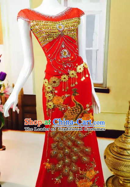 98bfe98db6 Top Traditional National Thai Garment Dress Thai Traditional Dress Dresses  Wedding Dress Complete Set for Women ...