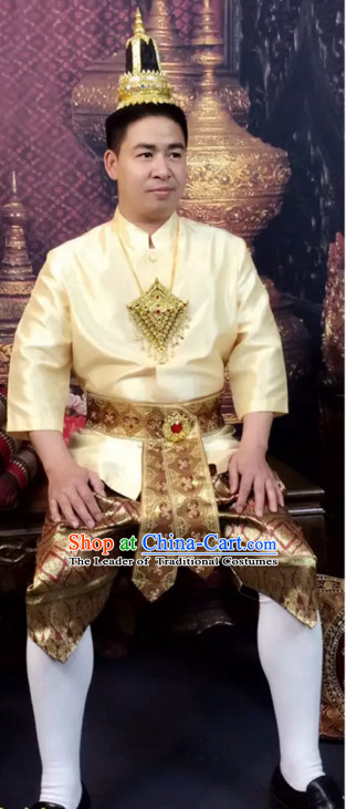 Top Traditional National Thai Costumes Garment Dress Thai Traditional Dress Dresses Wedding Dress Complete Set for Men Boys Youth Kids Adults