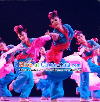 Traditional Chinese Color Transition Pure Silk Dance Fan