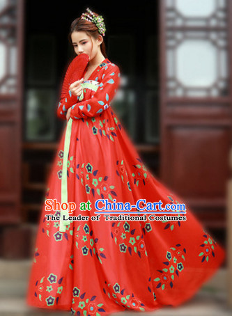 Ancient Chinese Hanfu Dress Skirt China Traditional Clothing Asian Long Dresses Clothes Fashion Oriental Outfits For Women