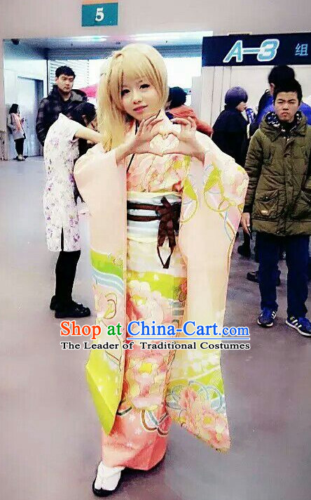 Traditional Japanese Style Kimono Cosplay Dress for Women