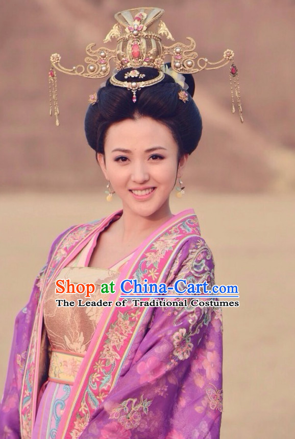 Ancient Chinese Royal Empress Queen Hair Jewelry Hairpieces