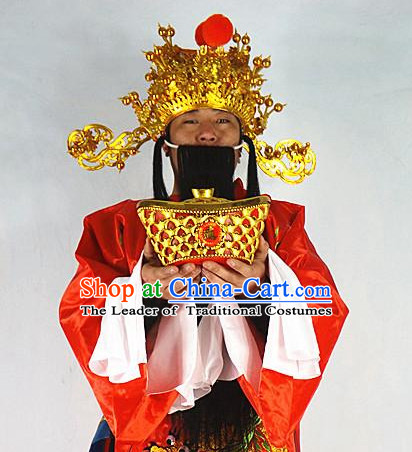 Chinese Headdress Cai Shen Ye Hat for Men