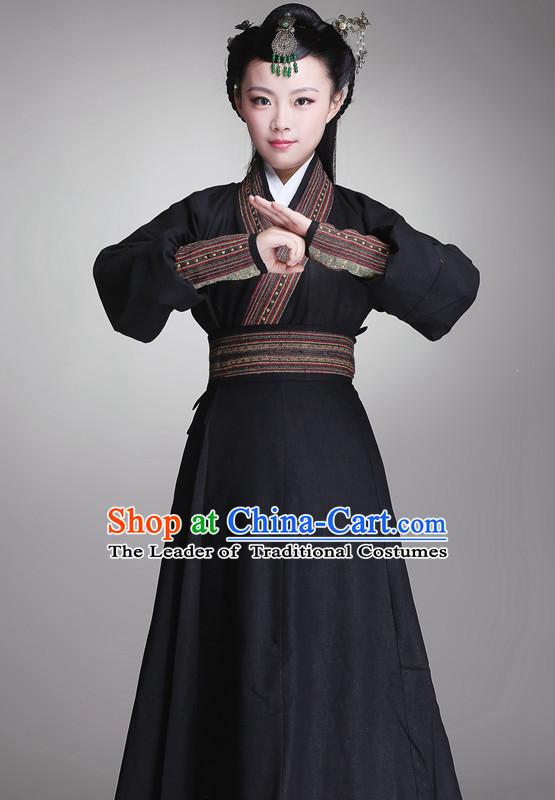 Asian Chinese Han Dynasty Hanfu Dress Costume Clothing Oriental Dress Chinese Robes Kimono for Women Gilrls Adults Children