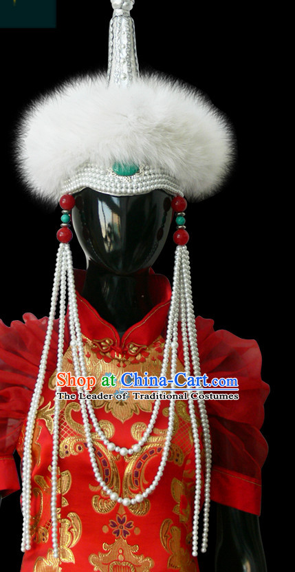 Mongolian People Yuan Dynasty Mongolians Hat for Women Girls Adults Children