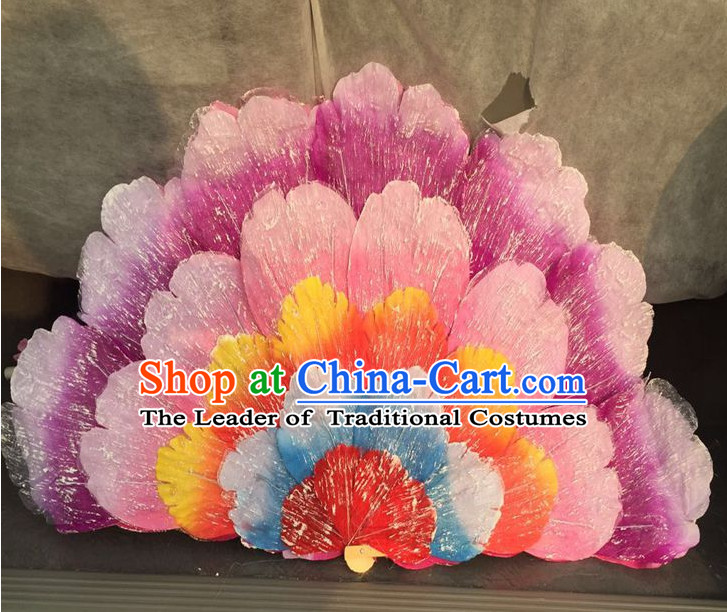 Traditional Chinese Handmade Flower Dance Dancing Fan