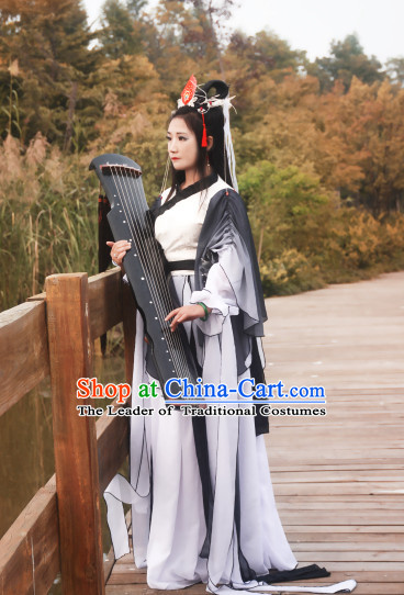 Chinese Traditional Superheroine Classical Dance Costume Complete Set for Women