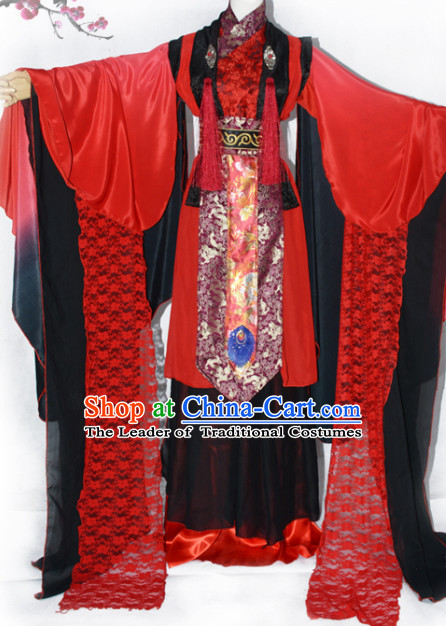 Chinese Traditional Ancient Queen Costume Complete Set for Women