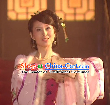 the Tang Dynasty Hairstyles Palace Dancer Black Wigs and Hair Accessories for Women or Girls