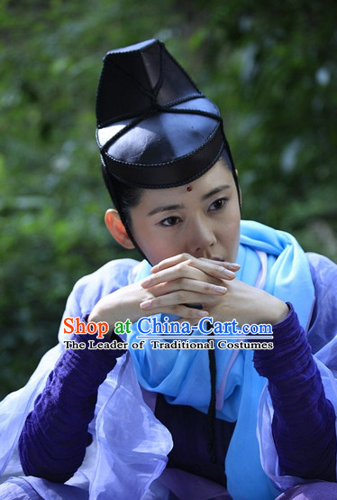 Chinese Ancient Knight Hairstyles Hat for Men and Women or Girls