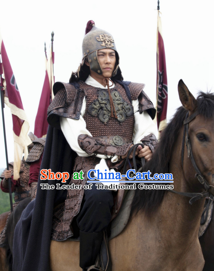 Asian Chinese Traditional Body Armor Costumes Complete Set for Men or Boys