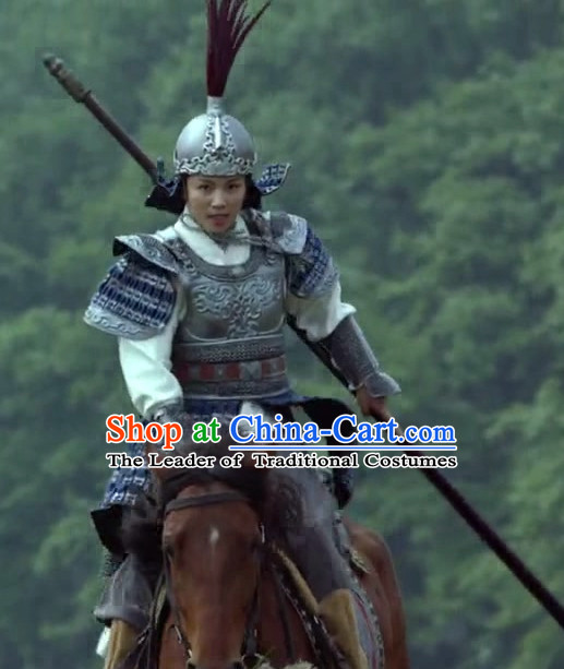 f0544e155 Asian Chinese Ancient Lang Ya Bang Nirvana in Fire Lamellar Body Armor  Costumes and Feather Helmet Complete Set