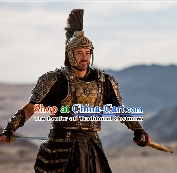 Asian Greek Body Armor Costumes and Coronet Complete Set