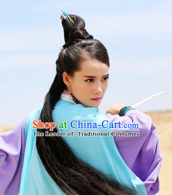 Ancient Chinese Beauties Fairy Black Wigs and Hair Styling Accessories Hair Clips Hairpins Jewelry