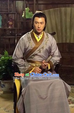 Ancient Chinese Traditional Teacher Wise Man National Hanfu Dress Costumes Clothes Ancient China Clothing for Men or Boys