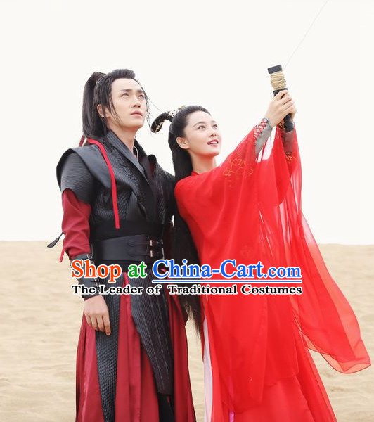 Ancient Chinese Traditional National Hanfu Dress Costumes Clothes Ancient China Clothing for Ladies and Gentleman