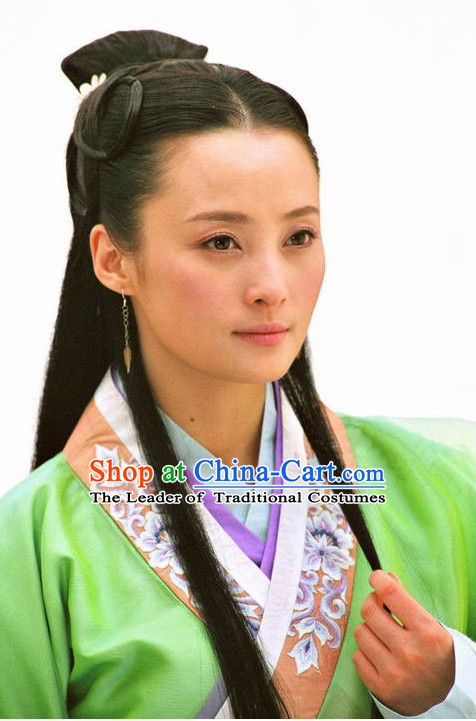Ancient Traditional Chinese Style Black Long Wig Wigs for Women Girls