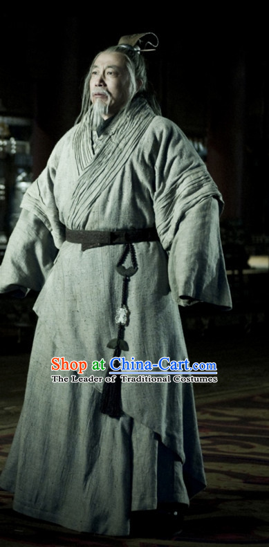 Ancient Chinese Style Hanfu Costumes Dress Authentic Clothes Culture Traditional National Clothing and Headpieces Complete Set for Men