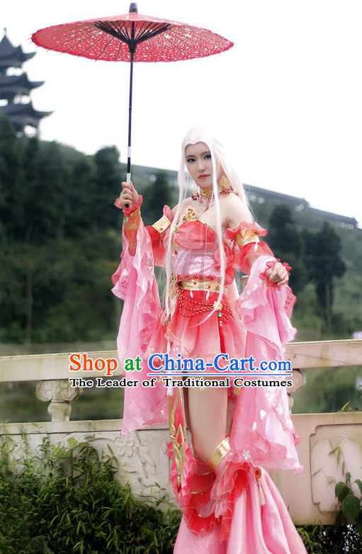 Chinese Ancient Clothing Cosplay Costumes and Accessories Complete Set for Women